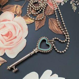 Tiffany & Co. Key Pendant and Ball Chain